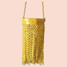 Vintage Golden Butternut Celluloid Link Flapper Purse