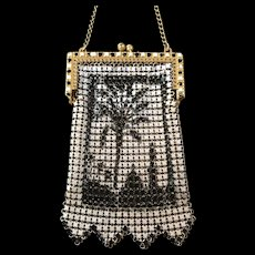 Whiting and Davis Egyptian Motif Mesh Child's Purse