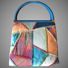 Vintage Judith Leiber Patchwork Purse Handbag