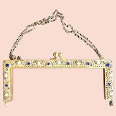 Jeweled Double Sided Purse Frame Handbag Ready