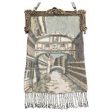 Vintage Beaded Venetian Scenic Purse Bridge of Sighs