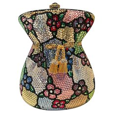 Vintage Kathrine Baumann Beverly Hills Authentic Crystal Money Bag Purse