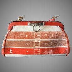 Vintage Roberta Di Camerino Velour Baguette Handbag Purse