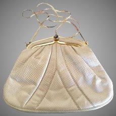 Vintage Karung Beige Judith Leiber Handbag Purse