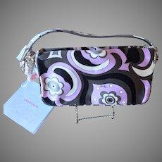 Vintage Emilio Pucci Rhinestone Silk Clutch Handbag Purse Italy