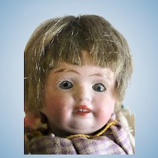5 Inch All Bisque Kuhnlenz Character Girl Swivel Neck Blue Sleep Eyes OM 2 Square Teeth Original Wig Project
