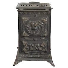 1901-1920 Cast Iron & Sheet Metal Gas Stove Bank Made in Philadelphia