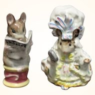 2 Beswick Beatrix Potter Mouse Figures Lady Mouse and Tailor of Gloucester