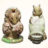 2 Beswick Beatrix Potter Figures Tomasina Tittlemouse and Chippy Hacker