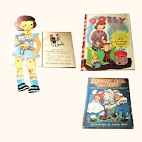 1944 Raggedy Ann & Andy with Animated Illustrations + 1952 Dolly Takes A Trip with Doll In Book