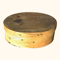 """6"""" Oval Pegged and Tacked Bent Wood 2 Finger Pantry Box"""