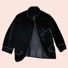 Edwardian  Black Velvet  Child Size Lined Kilt Jacket