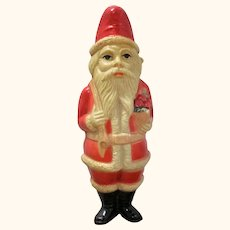 4.75 Inch Viscoloid Company Santa Claus with Basket of Roses & Toy Sack