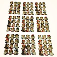 9 Sheets of Victorian Die Cut Scrap St Nicklaus 108 Pieces