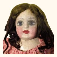 21 Inch 19th Century Pre Patent Experimental Alabama Baby Wig Bare Feet Claw Hands Red Nail Paint