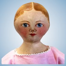 18 Inch Maggie Bessie Oil Painted Cloth Girl Doll Lovely Face Paint Wonderful Body