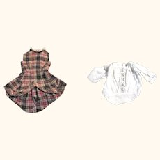 2 Hand Stitched 19th Century Linen Doll Bodices