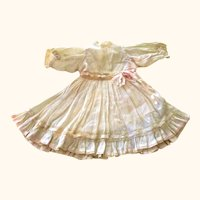9 Inch Ivory Hand Stitched Lawn Dress + Petticoat & Pantaloons for French Bebe