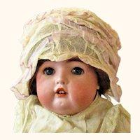 Dainty Net & Lavender Ribbon Edwardian Doll Cap