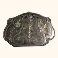 Victorian Bright Engraved Silver Metal Accordion Purse