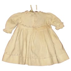 Victorian Ivory  Linen Coat Dress Cord Trim