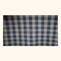 30 Inch Long x 44Inch Wide Slice of 19th Century Indigo Blue Plaid Homespun