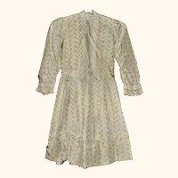 23 Inch Roller Printed Hand Stitched Silk Dress Back Interest Big Doll