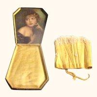 Topaz Sateen Doll Corset in Fan Shape Presentation Box