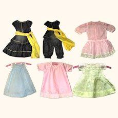 4 Piece Deco Halloween Doll Costume + 4 Pastel Dresses