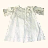 "10"" Ivory Linen Tunic Dress & Pink & White Flannel Petticoat"