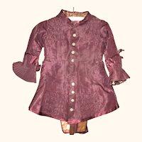 19th Century Lined Grape Silk Silk Split Tail Jacket