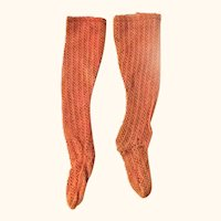 Antique Copper Color Open Weave French Fashion Stockings