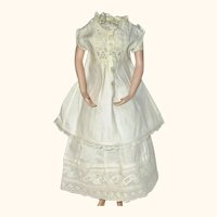 Lovely19th Century White Work Doll Undergarments Shift Petticoat Pantaloons