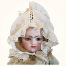 19th Century Lawn Doll Bonnet Face Ruffles Chin Ties 2 Adjusting Pull Strings Wear