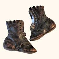 4 Inch Philadelphia 19th C Glazed Leather 9 Grommet Tie High Tops No LR