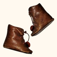 2.75 Inch Size 7 Saddle Color Kid Alart or Steiner Tie Boots