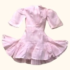Old 15 Inch Pale Pink Lawn Dress with Full Flouncy Skirt