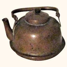Old Miniature Swing Handle Copper Tea Kettle