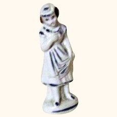 1860's 4 Inch China Girl Figure for Room Box or China Doll Display