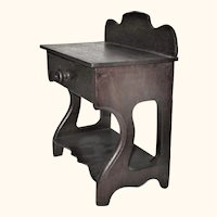 """Antique 9.5"""" Miniature Empire Wash Stand for Early China or Papier-Mache"""