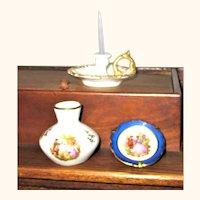 3 Pieces Doll Size Limoges Porcelain