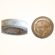 Unused 10 Yard Spool 3/8 Inch 1900 Pale Blue Silk Ribbon