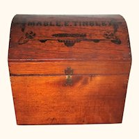 Mable Tinsley's 19th Century Dome Top  Doll Trunk w Tray & Compartment