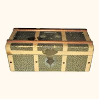 10 Inch Paper Covered Wood Doll Trunk