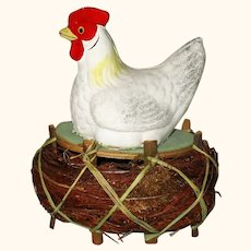 Old Marked Germany 6 Inch White Hen on Nest # 2