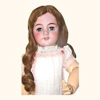 """20"""" Size 9 DEP Bebe Jumeau Original Wig*Jumeau Shoes*Stockings * Dress* Lingerie"""