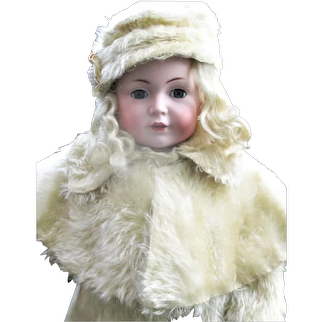 "Fine Simon & Halbig 22"" Character Girl 120 Blue SE Fab Original Wig & Layered Costume"