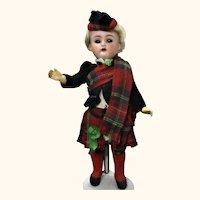 19th Century 9 Inch Kammer Reinhardt Boy in Original Scots Costume