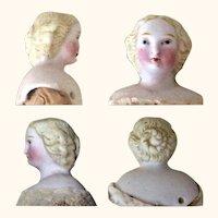 7 Inch 1860 Blond Parian Doll Elaborate Braided Bun Flat Sole Boots