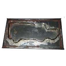 6.5 Inch Soldered Tin Pennsylvania 1920's Delivery Truck Cookie Cutter